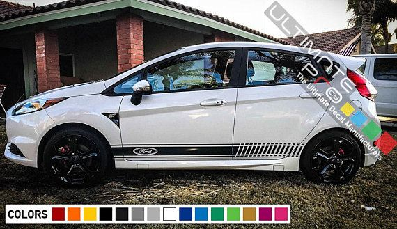 Decal Sticker Stripes For Ford Fiesta Rs St Body Trim 2006 Etsy In 2020 Ford Fiesta Fiesta Ford