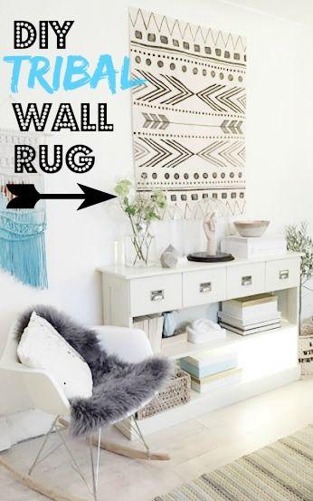 nostalgiecat: DIY tribal wall rug