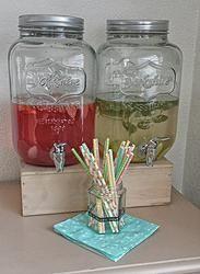 Mason Jar dispenser / Glazen kan met tapkraantje