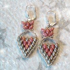"""Boucles d'oreille """"papillon rose"""" (bo-04)"""