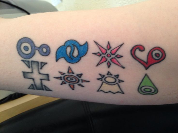 My first tattoo, the classic digimon crest