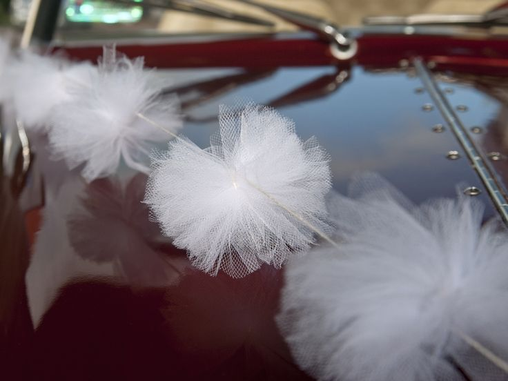 GIRLANDY tiulowe Białe Pompony #slub #wesele #sklepslubny #slubnezakupy #dekoracje