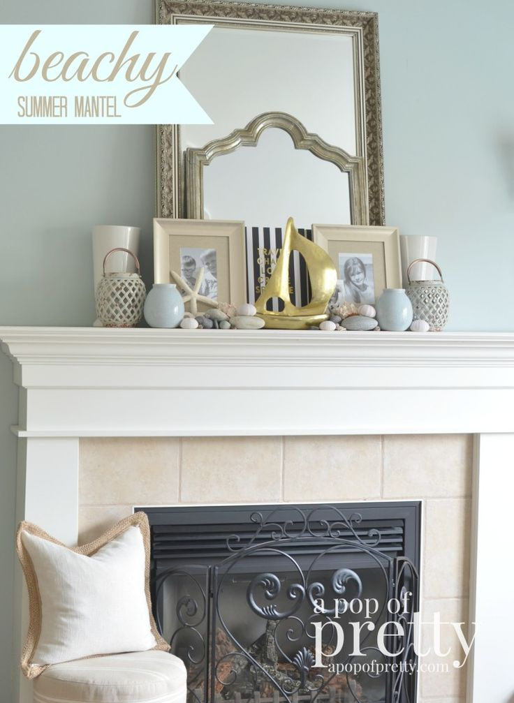 Beach-Inspired Summer Mantel - A Pop of Pretty: Canadian Decorating Blog | Finding the pretty in an every day home | Affordable home decor ideas tips tutorials inspiration |St Johns NL | A Pop of Pretty: Canadian Decorating Blog | Finding the pretty in an every day home | Affordable home decor ideas tips tutorials inspiration |St Johns NL