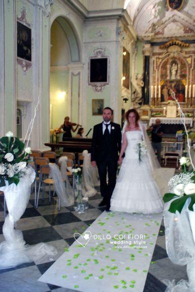 Lerici chiesa S.Rocco gli sposi pronti ad uscire