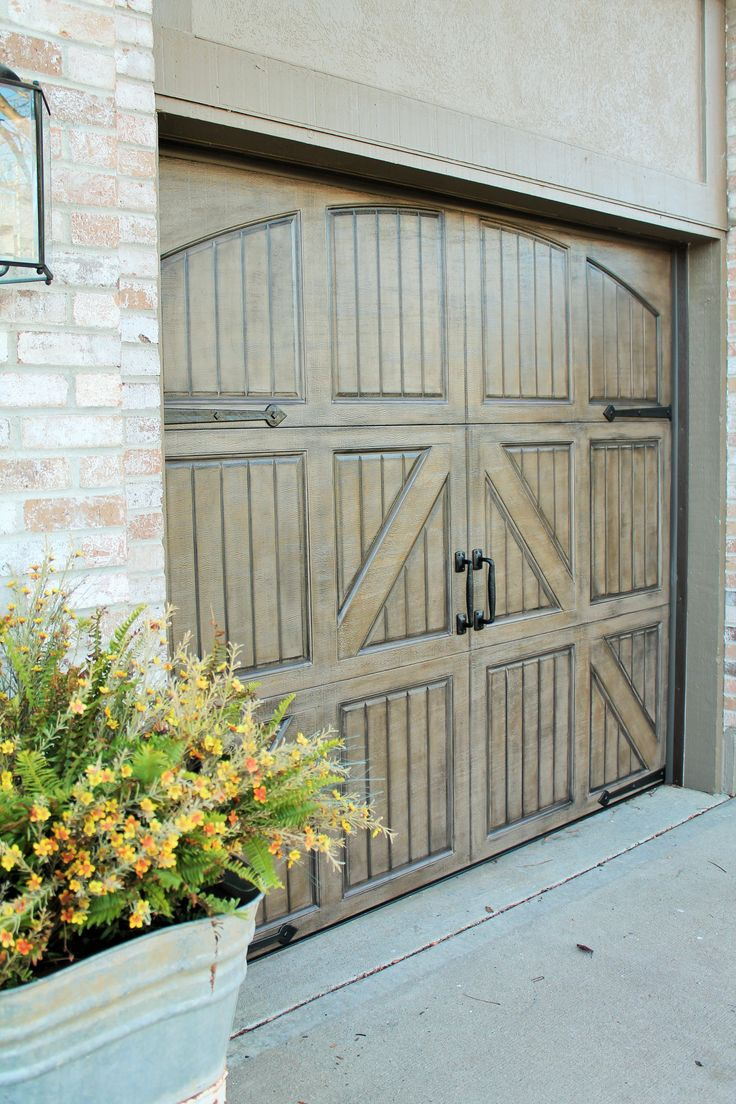 1000 ideas about painted garage doors on pinterest for How to paint faux wood garage doors