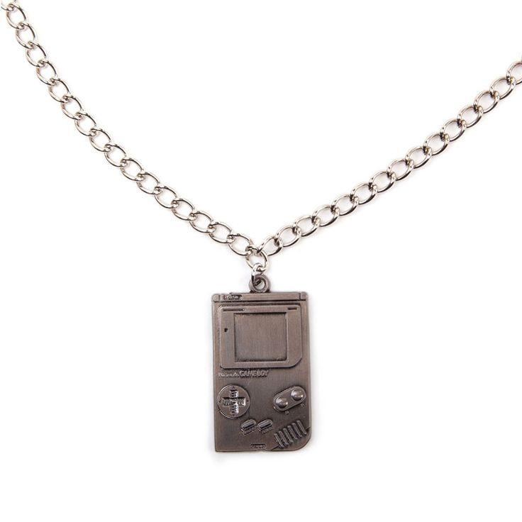 Nintendo Nintendo - Gameboy metalen ketting zilver - Games merchandise