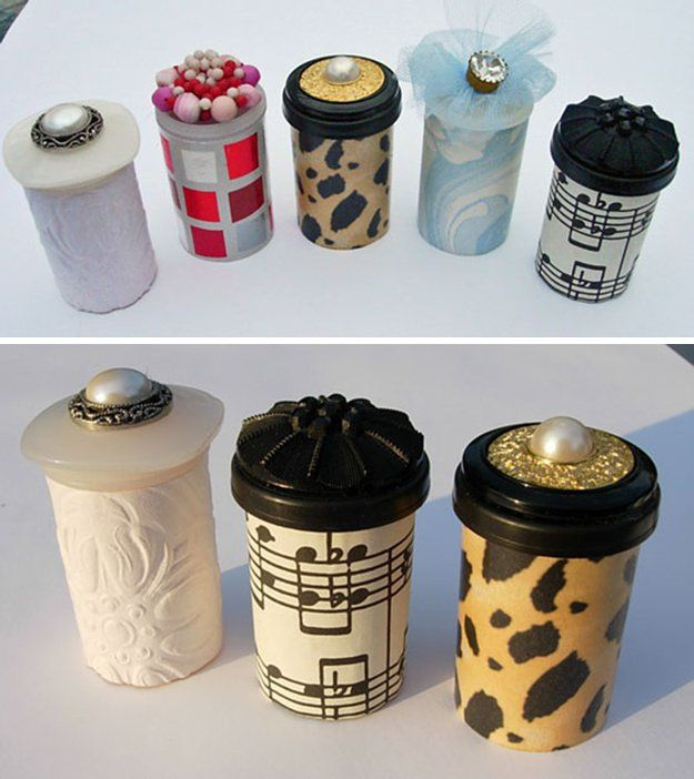 Upcycle Ideas with Pill Bottles   DIY Treasure Tube by DIY Ready at http://diyready.com/15-awesome-diy-uses-for-pill-bottles/