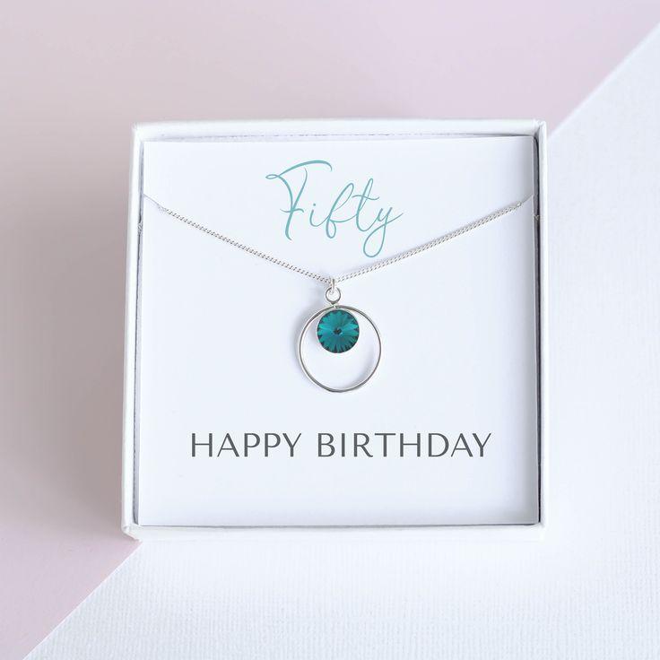50th birthday necklace 50th birthday gift fifty birthday