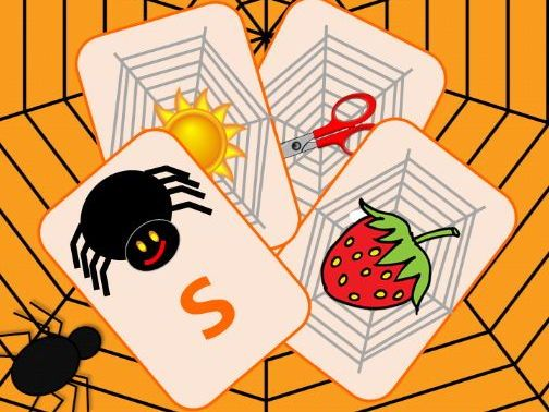 Phonics Phase 2 Spider Sounds Card Games