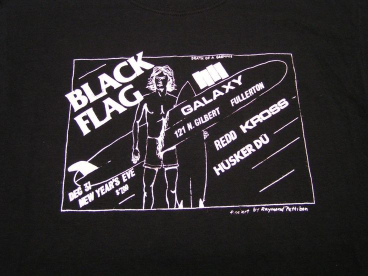 Vintage Punk Show Flyer - Black Flag, Husker Du, Redd Kross - T Shirt