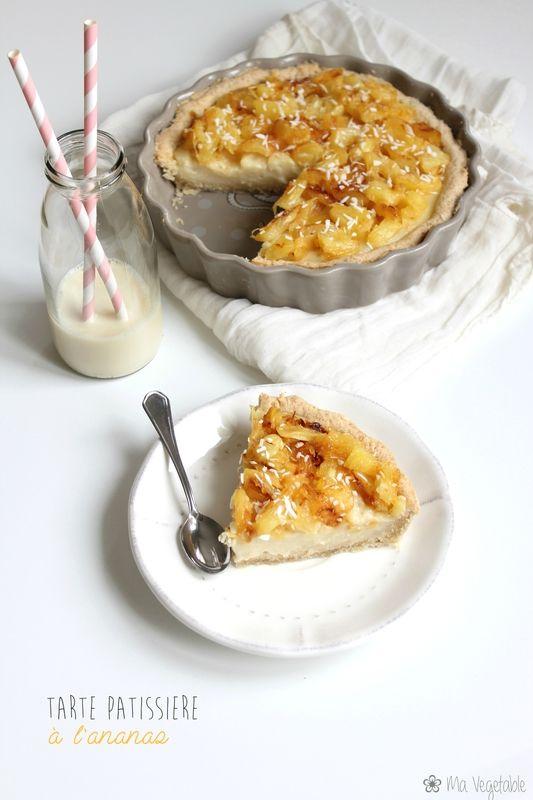 Tarte pâtissière à l'ananas - Ma Végétable