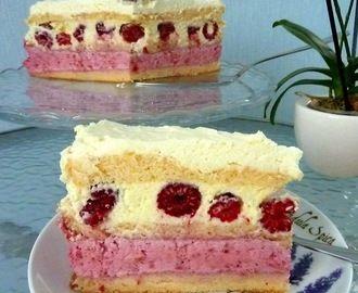 Najlepszy tort malinowy z masą z białej czekolady