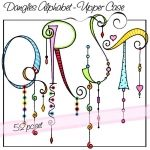 ♥♥ ~ Dangles Alphabet, Upper Case Q R S T by Olivia and company. ~