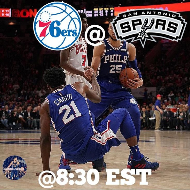Our 23-21 Sixers play in San Antonio against the 32-18 Spurs tonight at 8:30 EST.  #sixers #gosixers #markelle #joelembiid #embiid #bensimmons #dariosaric #philly #wellsfargocenter #nba #raisethecat #basketball #ball #letsgosixers #trusttheprocess #theprocess #brotherlylove #F2G