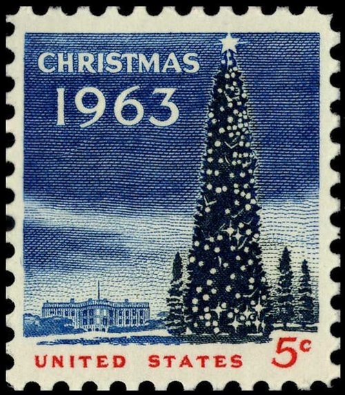 Vintage postage stamp...5¢. I turned six years old in September 1963.