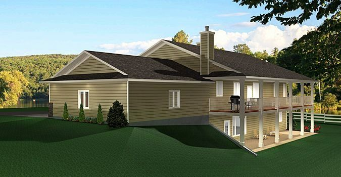 Side Walkout Basement House Plans Elegant Ranch Style Bungalow With Walkout Basement A Well Laid Basement House Plans Basement House Ranch Style House Plans