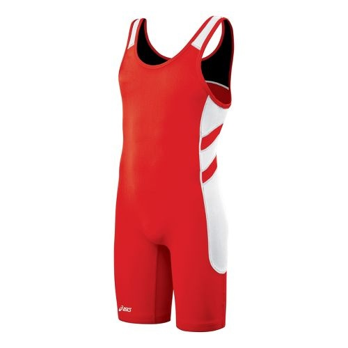 asics swimwear mens red