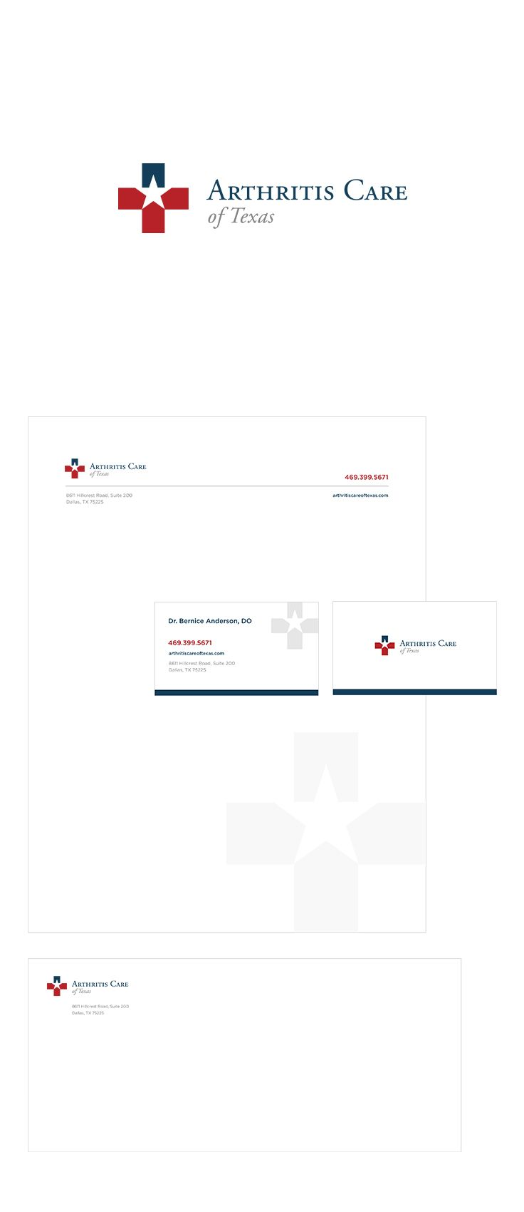 Arthritis Care of Texas Logo Design & Stationary #epicmarketing #graphicdesign #logo #stationary #visualidentity