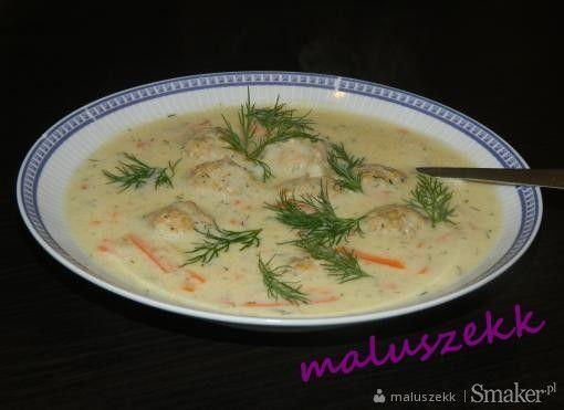 Zupa koperkowa z klopsikami