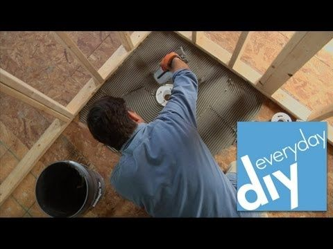 Buildipedia DIY - How to Install a Tileable Shower Base - YouTube