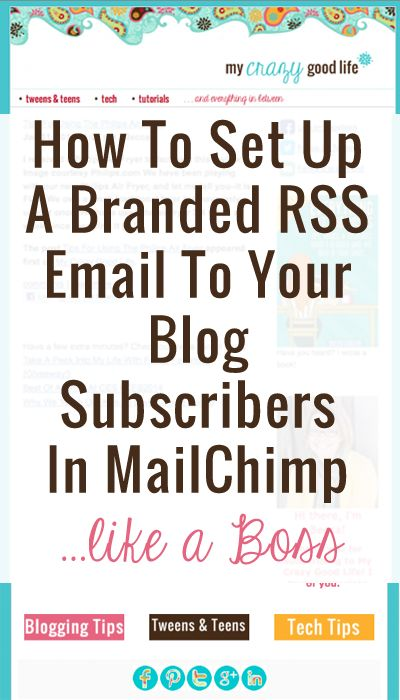 How to Setup an RSS Feed Mailchimp - The SITS Girls