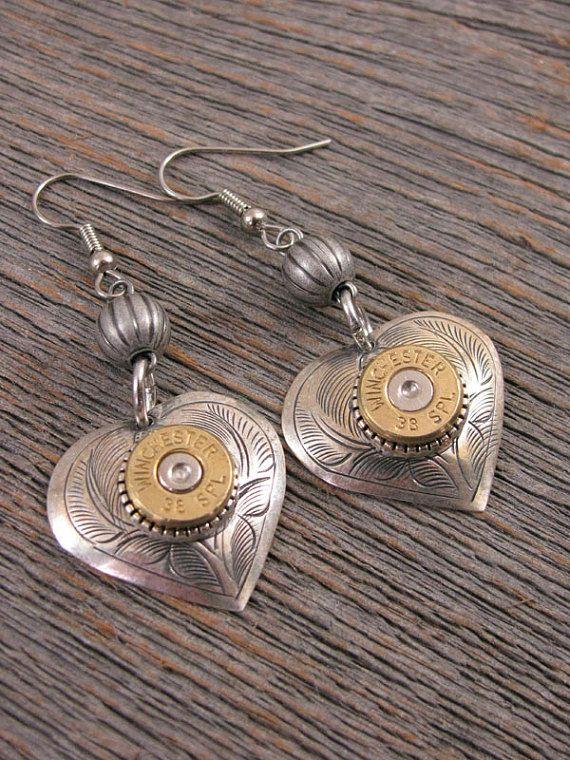 Bullet Jewelry Heart Jewelry Gun Jewelry Shot Thru the