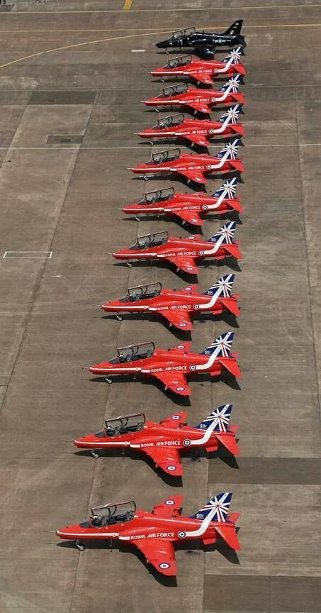 Red Arrows at RIAT July 2014