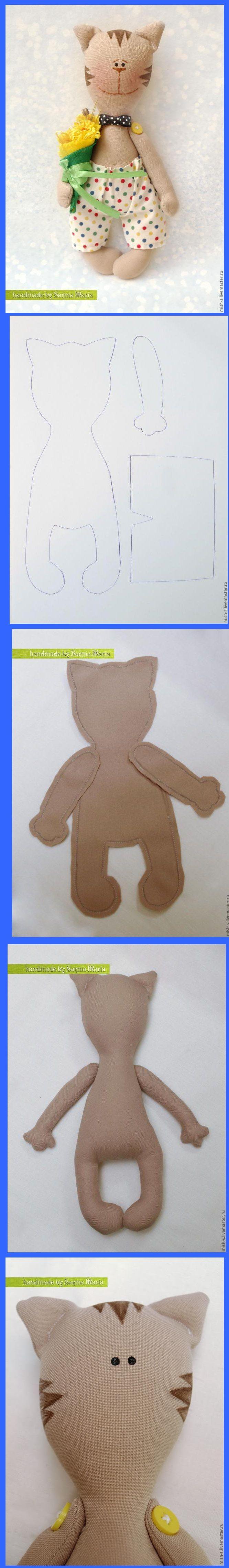 soft stuffed toy kitty cat doll pattern