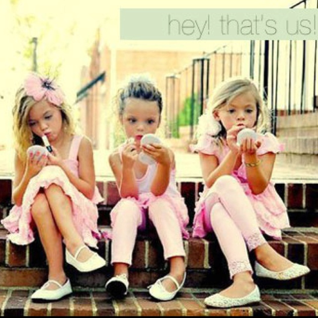 This reminds me of my princess, she loves playing dress up!
