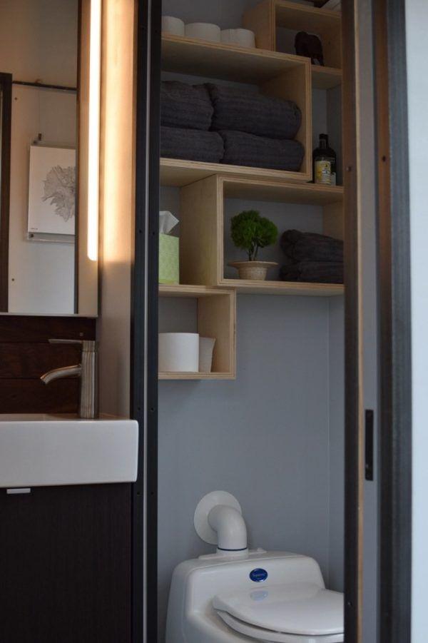 Best Tiny House Bathrooms Images On Pinterest Bathroom Ideas - Bathroom drawers on wheels for bathroom decor ideas