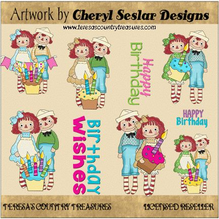 #Raggedy #Birthday Wishes #Clipart