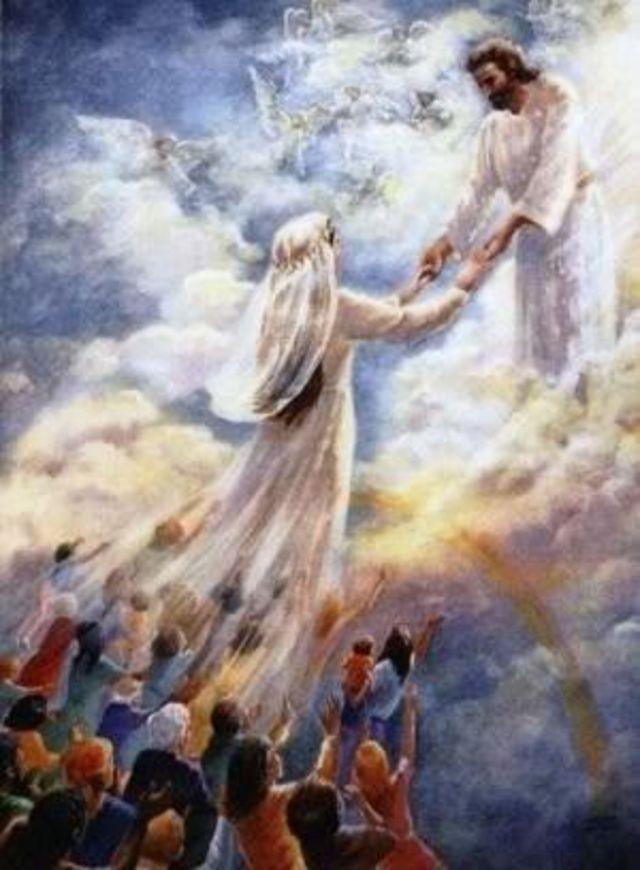 иисус в раю картинки густая