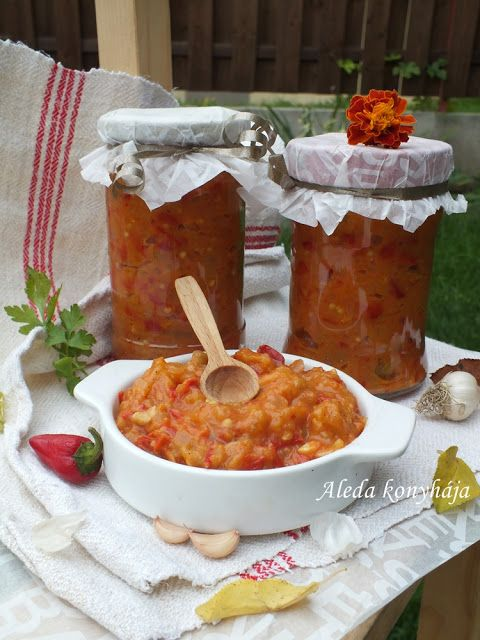 Aleda konyhája: Pikáns  zakuszka (csípős-fokhagymás)