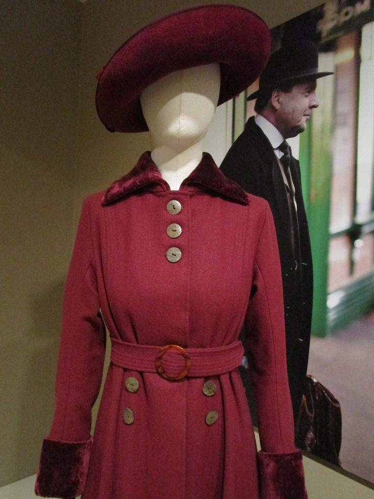 2016-08-26 Taft Museum Downton Abbey Exhibit - Mary Crawley's red wool and velvet ensemble (Season 2)