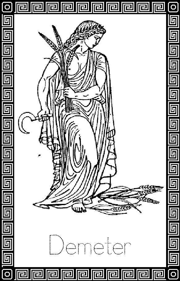 Demeter Coloring Pages Wiccan Art