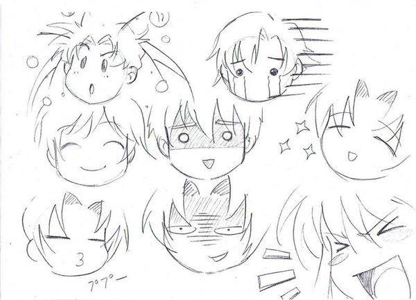 como aprender a dibujar expresiones anime y manga 1