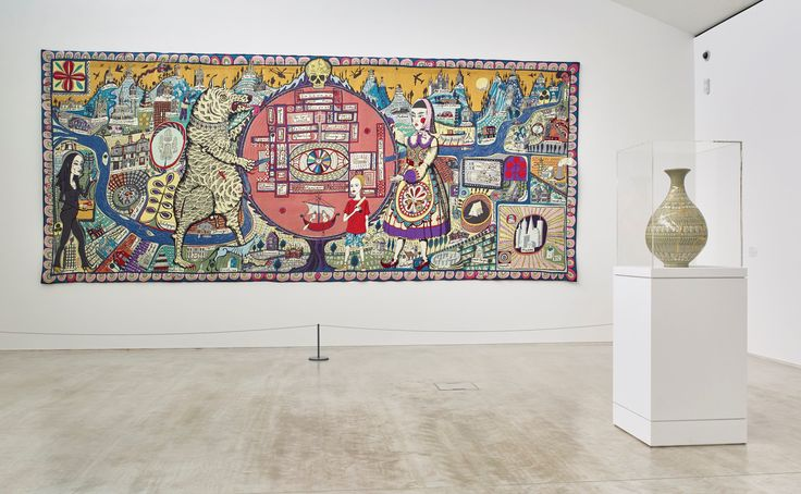 Grayson Perry brought Provincial Punk to Margate in 2015. An extensive display of Perry's hand-made ceramic pots covered in drawings, handwritten texts and collaged elements were on display. Photo: Stephen White