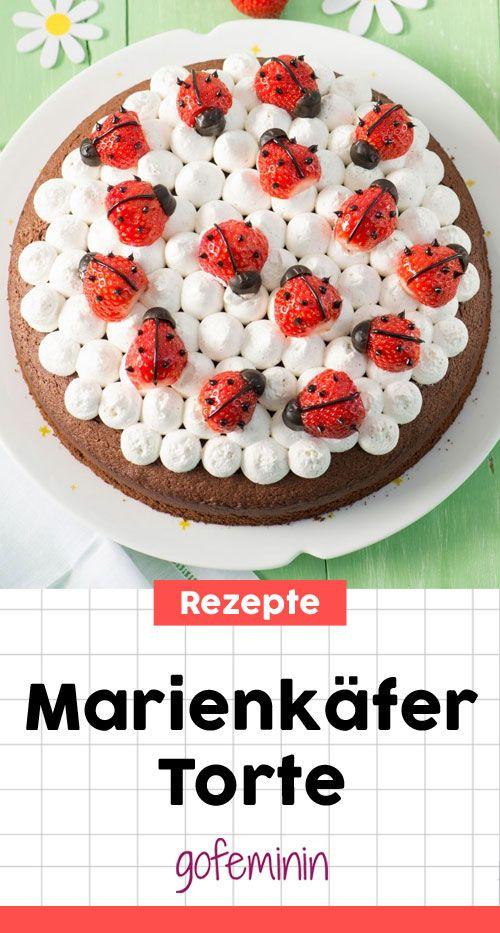 Marienkäfertorte selber machen - das einfache Rezept gibt es hier! #tortebacken #torte #kindergeburtstag