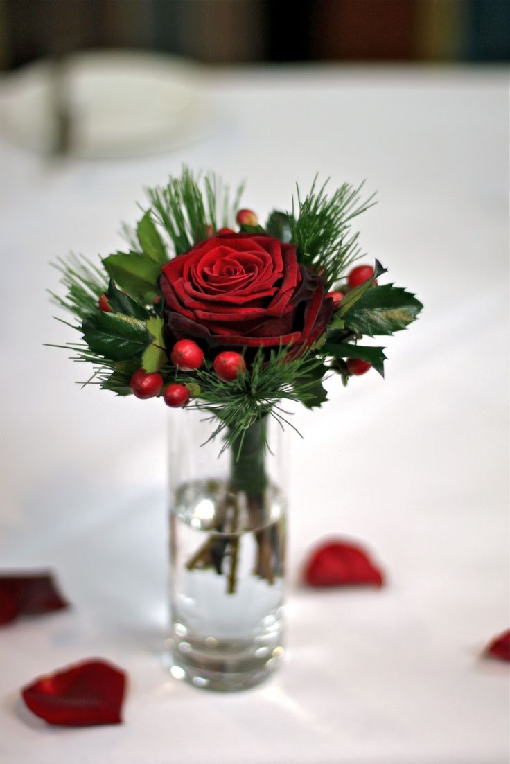 Xmas Wedding Centerpieces