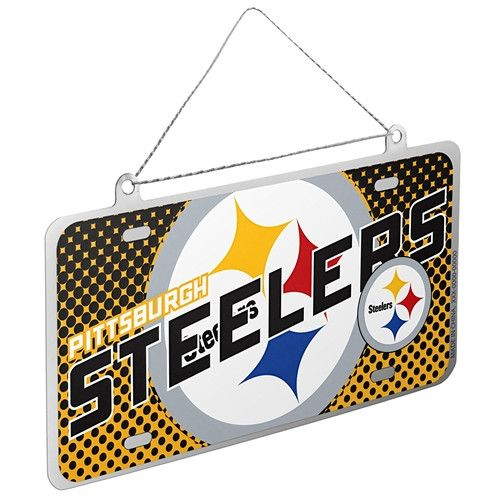 Pittsburgh Steelers License Plate Ornament - Free Shipping