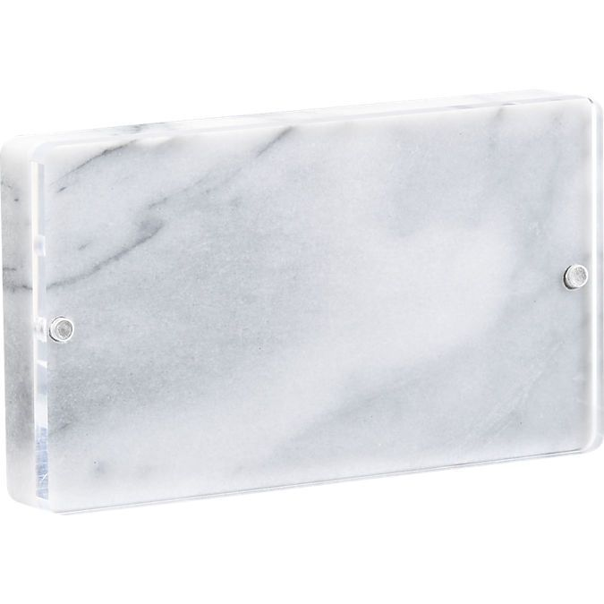 marble 4x6 picture frame | CB2