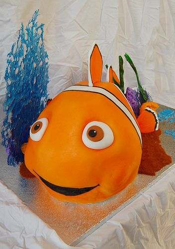 Best Nemo Images On Pinterest Finding Nemo Cake Nemo Cake - Nemo fish birthday cake