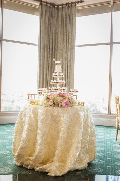 wedding cake table linens rosette tablecloth wedding cake table by candycrushevents 26193