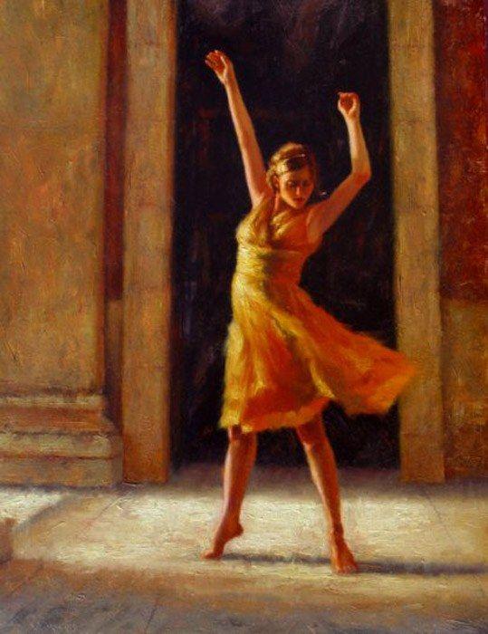 dancers painting | Flamenco Dancer Paintings - Flamenco Dancer Passion Painting