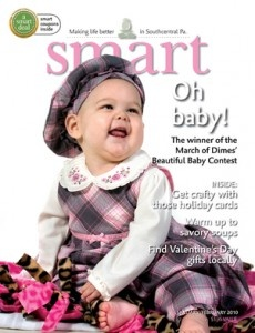 January/February 2010 March of Dimes Beautiful Baby Contest winner on the cover