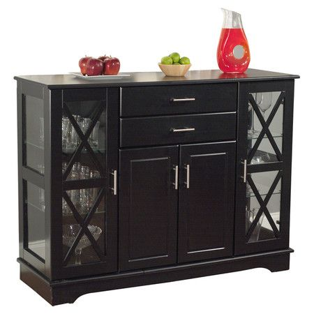 A stylish addition to your dining room, this 2-drawer buffet showcases 2 glass doors with lattice overlay and ample interior storage.  ...