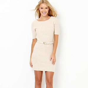 Hot Options from Target Belted Knit Dress in Birch