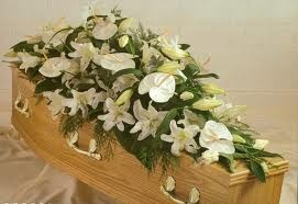 funeral flowers for the coffin