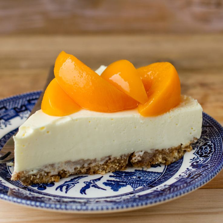 The ever popular fridge cheesecake gets a peach flair.