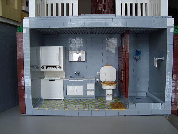 ~ Lego MOCs City ~ bathroom and laundry